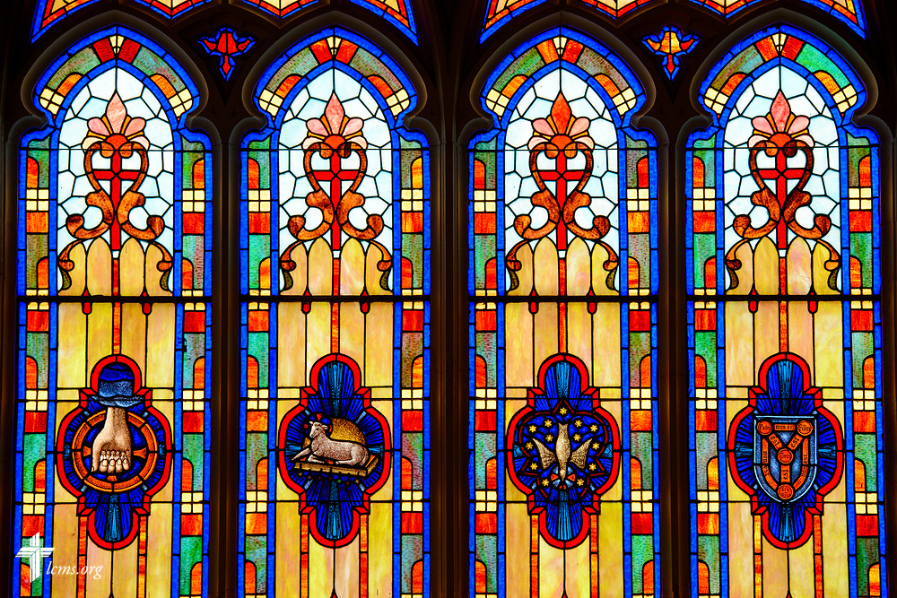 Stained glass at St. Paul Lutheran Church, San Antonio, Texas on Wednesday, Aug. 2, 2017, in San Antonio. LCMS Communications/Erik M. Lunsford