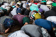 """Munzur Valley, Turkey    - July 28, 2014 - During a """"cem"""" - the main type of Alevi religious ceremony - worshippers kneel and pray. CREDIT: Michael Benanav for The New York Times"""
