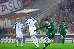 Zlatko Dedic of Slovenia at  the 2010 FIFA World Cup South Africa Qualifying match between Slovakia and Slovenia, on October 10, 2009, Tehelne Pole Stadium, Bratislava, Slovakia. Slovenia won 2:0. (Photo by Vid Ponikvar / Sportida)