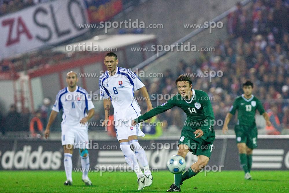 Zlatko Dedic of Slovenia at  the 2010 FIFA World Cup South Africa Qualifying match between Slovakia and Slovenia, on October 10, 2009, Tehelne Pole Stadium, Bratislava, Slovakia. Slovenia won 2:0. (Photo by Vid Ponikvar / Sportida)