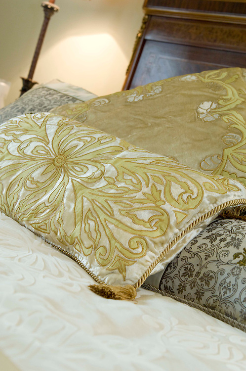 Cushions, bed, embroidered