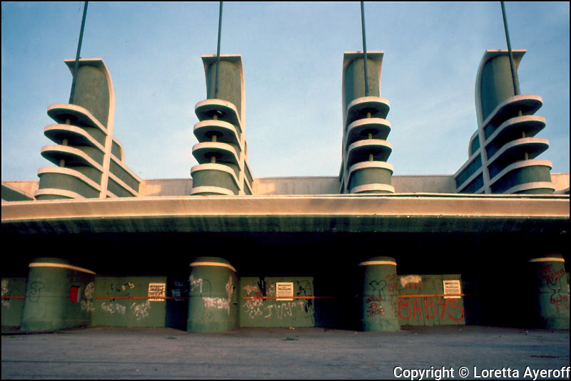 Pan Pacific Auditorium 2,Los Angeles, CA: A large portfolio of CA Ruins was published in California Magazine, 1982. This is the director's cut.