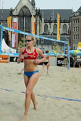 06-06-2010 VOLLEYBAL: JIBA GRAND SLAM BEACHVOLLEYBAL: AMSTERDAM<br /> In een koninklijke ambiance streden de nationale top, zowel de dames als de heren, om de eerste Grand Slam titel van het seizoen bij de Jiba Eredivisie Beach Volleyball - Marleen van Iersel / Sanne Keizer vs. Inge van den Outenaar / Eveline Stevens<br /> ©2010-WWW.FOTOHOOGENDOORN.NL