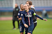Joie PSG - Sabrina Delannoy - 26.04.2015 - Paris Saint Germain / Wolfsbourg - 1/2Finale Champions League feminine<br />Photo : Andre Ferreira / Icon Sport