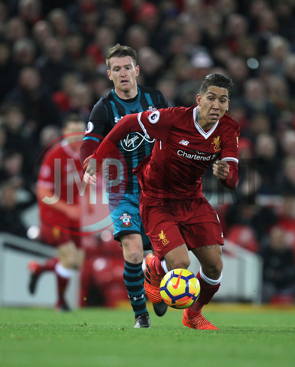 Roberto Firmino of Liverpool in action - Mandatory by-line: Jack Phillips/JMP - 18/11/2017 - FOOTBALL - Anfield - Liverpool, England - Liverpool v Southampton - English Premier League