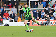 Ryan Sweeney defender for AFC Wimbledon (20) during the Sky Bet League 2 match between Hartlepool United and AFC Wimbledon at Victoria Park, Hartlepool, England on 25 March 2016. Photo by Stuart Butcher.