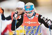 DAVOS, SCHWEIZ - 2016-12-09: Anne Kyll&ouml;nen under tr&auml;ning inf&ouml;r Viessmann FIS Cross Country World Cup den 9 december, 2016 i Davos, Schweiz. Foto: Nils Petter Nilsson/Ombrello<br /> ***BETALBILD***