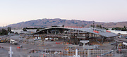 The Milpitas BART Station is under construction near Montague Expressway and Great Mall Parkway in Milpitas, California, photographed in this panoramic photo on September 8, 2015. (Stan Olszewski/SOSKIphoto)