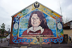 Bobby Sands MP mural in the Falls Road, Belfast, Northern Ireland<br /> <br /> (c) Andrew Wilson | Edinburgh Elite media