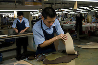 Yingdak leather factory.