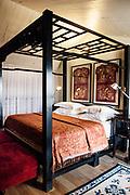 2nd floor bedroom in room at Seven Terraces hotel. Georgtown, Penang