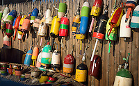 Lobster Buoys, Thurstons Lobster Pound, Bernard, Maine