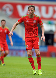 CARDIFF, WALES - Friday, June 5, 2015: Wales' Andy King during a practice match at the Cardiff City Stadium ahead of the UEFA Euro 2016 Qualifying Round Group B match against Belgium. (Pic by David Rawcliffe/Propaganda)