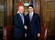 Justin Trudeau Meets Joe Biden - Ottawa 9 Dec2016