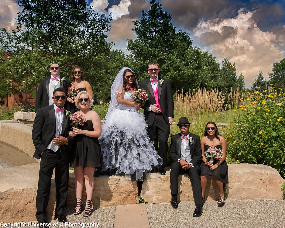 A fabulous wedding on a warm July day.