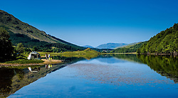 People camping at the shore of Loch Lubhair in the Trossachs, Scotland<br /> <br /> (c) Andrew Wilson | Edinburgh Elite media