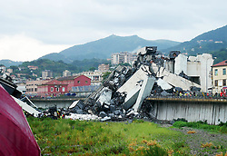 A highway bridge has partially collapsed near Genoa Italy. At least 30 people are believed to have died as a large section of the Morandi viaduct upon which the A10 motorway runs collapsed in Genoa on Tuesday.