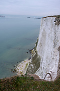 The White Cliffs of Dover, Kent. One of the most famous and iconic landmarks of Britain. They face the straights of Dover between England and France. They are part of the North Downs formation and are mostly made up of chalk.  (photo by Andrew Aitchison / In pictures via Getty Images)