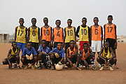 Football practice and training for the under 12's team of Corners Babies youth football Academy. Two of the academy's past players now play for the national team, the Black Stars.  Kumasi- Ghana's second largest city. West Africa..©Picture Zute Lightfoot.  07939 108077. www.lightfootphoto.co.uk