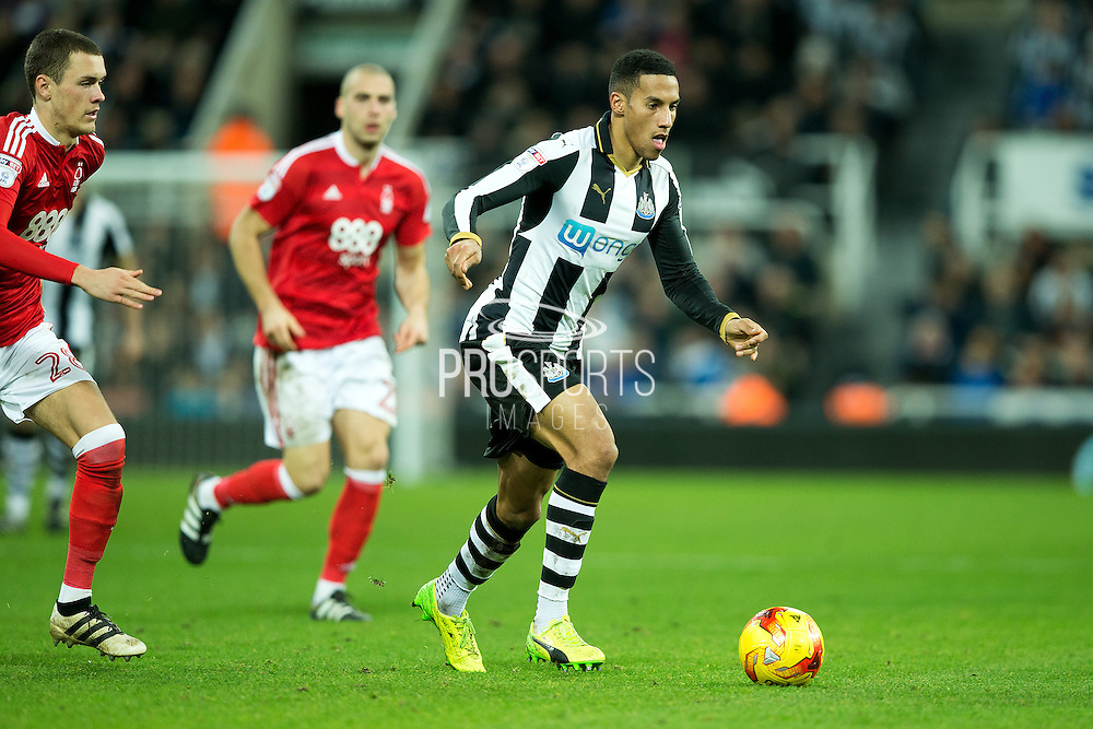 Newcastle United midfielder Isaac Hayden (#14) in action during the EFL Sky Bet Championship match between Newcastle United and Nottingham Forest at St. James's Park, Newcastle, England on 30 December 2016. Photo by Craig Doyle.