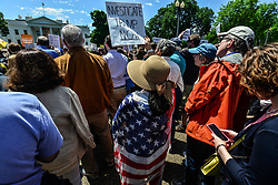 May 10, 2017 - Washington, District of Columbia, United States - Crowds protested President Trump's firing of FBI Director James Comey at the White House Wednesday, as Washington continued to process the administration's stunning move. (Credit Image: © Miguel Juarez Lugo via ZUMA Wire)