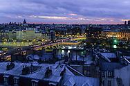 """France. Paris. Elevated view on the Seine river. The Seine river and the """"pont neuf"""", view from St Germain L'auxerrois church (1st)  Paris  FranceParis"""
