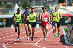 KACAR Hasan Huseyin Guide: CAKIR Muhammet Ugur, TUR, 800m, T11, 2013 IPC Athletics World Championships, Lyon, France