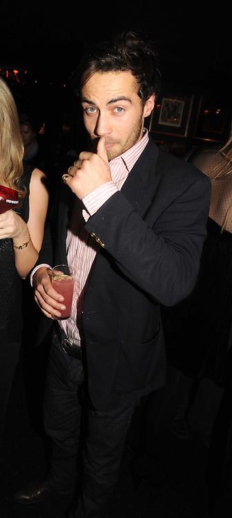 JAMES MIDDLETON  at the Tatler Magazine Little Black Book party at Tramp, 40 Jermyn Street, London SW1 on 5th November 2008.