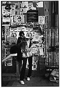 Newspaper vendor, New York 1980