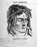 Napoleon the Corsican.  Caricature of Napoleon Bonaparte (1769-1821). Engraving