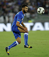 Antonio Candreva of Italy during the International Friendly match at Stadio San Nicola, Bari<br /> Picture by Stefano Gnech/Focus Images Ltd +39 333 1641678<br /> 04/09/2014