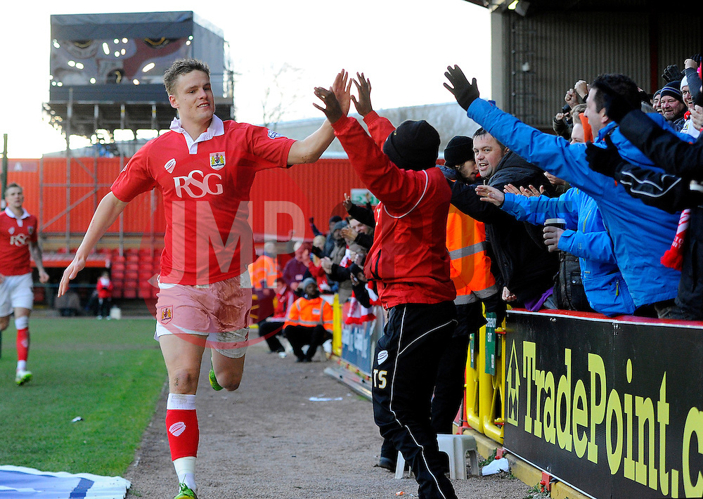 Bristol City's Matt Smith celebrates his goal  - Photo mandatory by-line: Joe Meredith/JMP - Mobile: 07966 386802 - 01/02/2015 - SPORT - Football - Bristol - Ashton Gate - Bristol City v Fleetwood Town - Sky Bet League One