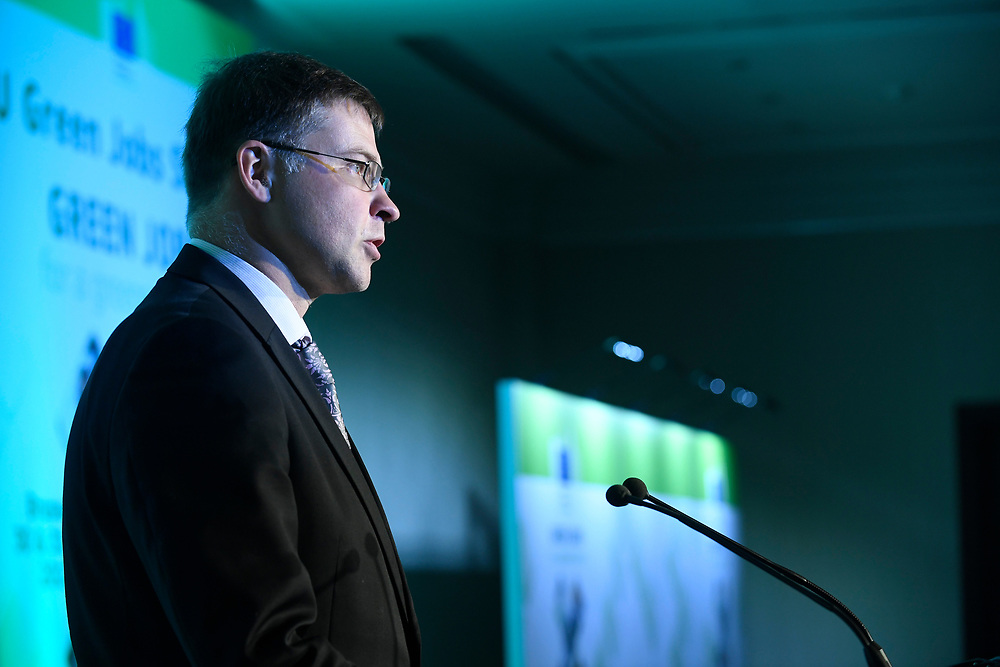 Brussels , Belgium , 30 May 2017 - Green Week 2017 - Green Jobs for a greener future - Green Jobs for Tomorrow, Today - Vice President Valdis Dombrovskis, European Parliament <br /> &copy; EU - Patrick Mascart
