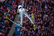 Poland, Wisla Malinka - 2017 November 19: Aleksander Zniszczol from Poland soars through the air while Men&rsquo;s Individual HS134 competition during FIS Ski Jumping World Cup Wisla 2017/2018 - Day 3 at jumping hill of Adam Malysz on November 19, 2017 in Wisla Malinka, Poland.<br /> <br /> Mandatory credit:<br /> Photo by &copy; Adam Nurkiewicz<br /> <br /> Adam Nurkiewicz declares that he has no rights to the image of people at the photographs of his authorship.<br /> <br /> Picture also available in RAW (NEF) or TIFF format on special request.<br /> <br /> Any editorial, commercial or promotional use requires written permission from the author of image.