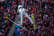 Poland, Wisla Malinka - 2017 November 19: Aleksander Zniszczol from Poland soars through the air while Men's Individual HS134 competition during FIS Ski Jumping World Cup Wisla 2017/2018 - Day 3 at jumping hill of Adam Malysz on November 19, 2017 in Wisla Malinka, Poland.<br /> <br /> Mandatory credit:<br /> Photo by © Adam Nurkiewicz<br /> <br /> Adam Nurkiewicz declares that he has no rights to the image of people at the photographs of his authorship.<br /> <br /> Picture also available in RAW (NEF) or TIFF format on special request.<br /> <br /> Any editorial, commercial or promotional use requires written permission from the author of image.