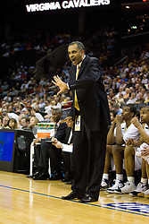 Georgia Tech head coach Paul Hewitt.  The Virginia Cavaliers fell to the Georgia Tech Yellow Jackets 94-76  in the first round of the 2008 ACC Men's Basketball Tournament at the Charlotte Bobcats Arena in Charlotte, NC on March 13, 2008.