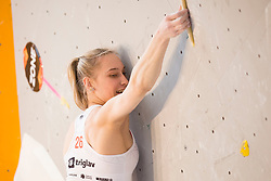 Janja Garnbret (SLO) at Semifinal of Climbing event - Triglav the Rock Ljubljana 2018, on May 19, 2018 in Congress Square, Ljubljana, Slovenia. Photo by Urban Urbanc / Sportida
