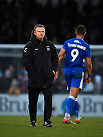 Football - 2019 / 2020 Emirates FA Cup - Third Round: Bristol Rovers vs. Coventry City<br /> <br /> Coventry City's Manager Mark Robins at the final whistle, at the Memorial Stadium.<br /> <br /> COLORSPORT/ASHLEY WESTERN