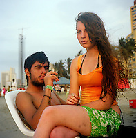 Young couple on the beach in Cartagena, Colombia. (Photo/Scott Dalton)
