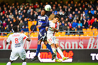 Carlos Eduardo de Castro RINCON / Gaetan BELAUD - 10.01.2014 - Troyes / Brest - 19e journee Ligue 2<br /> Photo : Dave Winter / Icon Sport