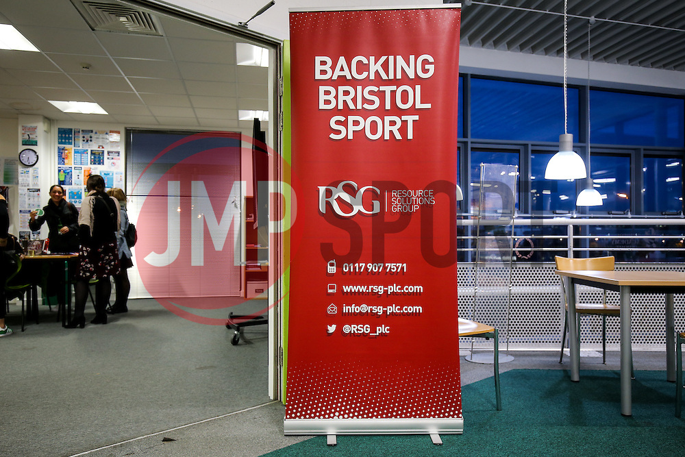 Sponsor Banners - Rogan Thomson/JMP - 21/10/2016 - BASKETBALL - SGS Wise Arena - Bristol, England - Bristol Flyers v Leicester Riders - BBL Championship.