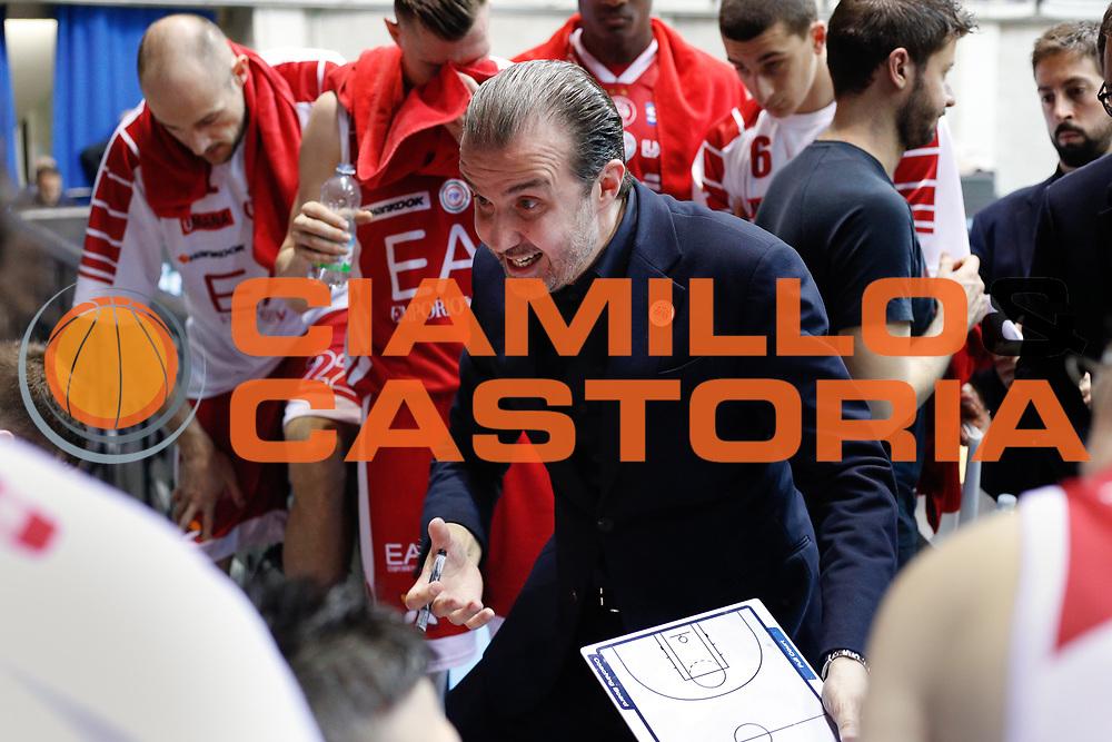 Pianigiani Simone time out, RED OCTOBER MIA CANTU' vs EA7 EMPORIO ARMANI OLIMPIA MILANO, Lega Basket Serie A 2017/2018, 26 giornata, PalaDesio 15 aprile 2018 foto:BERTANI/Ciamillo