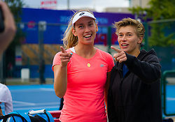 September 30, 2018 - Elise Mertens of Belgium & Demi Schuurs of the Netherlands during a video shoot at the 2018 China Open WTA Premier Mandatory tennis tournament (Credit Image: © AFP7 via ZUMA Wire)