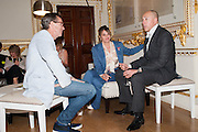 OLIVER PEYTON; TRACEY EMIN; ; DYLAN JONES;   VIP room during the RA summer exhibition party. Royal Academy, Piccadilly. London. 5 June 2013.