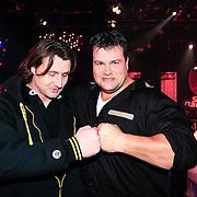 NLD/Hilversum/20130105 - 2de Liveshow Sterren Dansen op het IJs 2013, Jarno Harms en broer Martijn