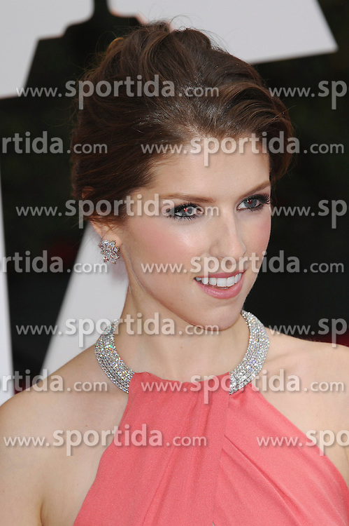 22.02.2015, Dolby Theatre, Hollywood, USA, Oscar 2015, 87. Verleihung der Academy of Motion Picture Arts and Sciences, im Bild Anna Kendrick // attends 87th Annual Academy Awards at the Dolby Theatre in Hollywood, United States on 2015/02/22. EXPA Pictures &copy; 2015, PhotoCredit: EXPA/ Newspix/ PGMP<br /> <br /> *****ATTENTION - for AUT, SLO, CRO, SRB, BIH, MAZ, TUR, SUI, SWE only*****