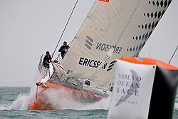 Singapore Volvo Ocean Race Inport race January 2009, winner in Ericsson 4
