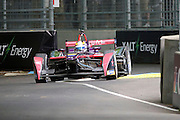 DS Virgin Racing driver, Jean-Eric Vergne going through the chicane during round 10, Formula E, Battersea Park, London, United Kingdom on 3 July 2016. Photo by Matthew Redman.