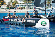 Emirates Team New Zealand. Extreme Sailing Series Practice day in Nice. 1/10/2014