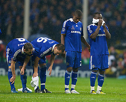 MOSCOW, RUSSIA - Wednesday, May 21, 2008: Chelsea's Frank Lampard, captain John Terry, Salomon Kalou and Michael Essien look dejecred during the shoot-out to decide the UEFA Champions League Final against Manchester United at the Luzhniki Stadium. (Photo by David Rawcliffe/Propaganda)